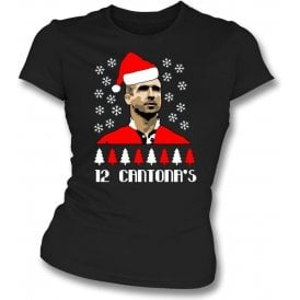 12 Days of Cantona (Manchester United) Womens Slim Fit T-Shirt