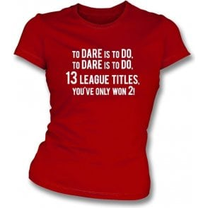 13 League Titles... (Arsenal) Womens Slim Fit T-Shirt