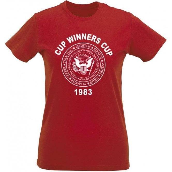 Aberdeen Cup Winners Cup 1983 Womens Slim Fit T-Shirt