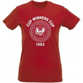 Aberdeen Cup Winners Cup 1983 Womens Slim Fit T-Shirt