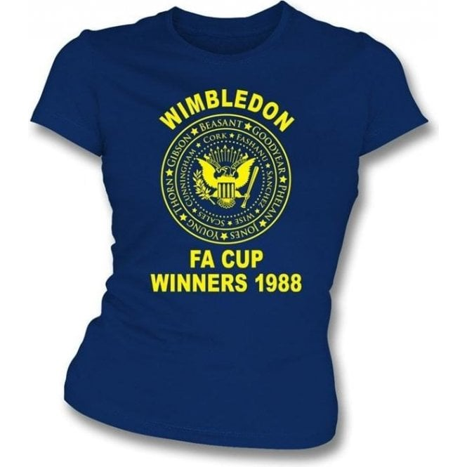 (AFC) Wimbledon 1988 FA Cup Winners (Ramones Style) Girl's Slim-Fit