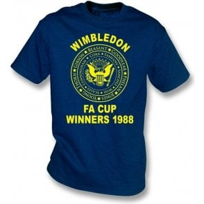 (AFC) Wimbledon 1988 FA Cup Winners (Ramones Style) T-shirt