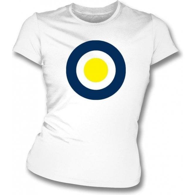AFC Wimbledon Classic Mod Target Womens Slim Fit T-Shirt