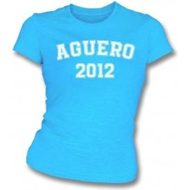 Aguero 2012 (Manchester City) Womens Slim Fit T-Shirt