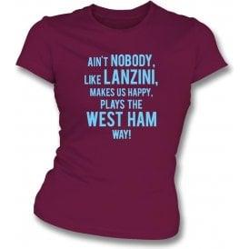 Ain't Nobody Like Lanzini Womens Slim Fit T-Shirt (West Ham)