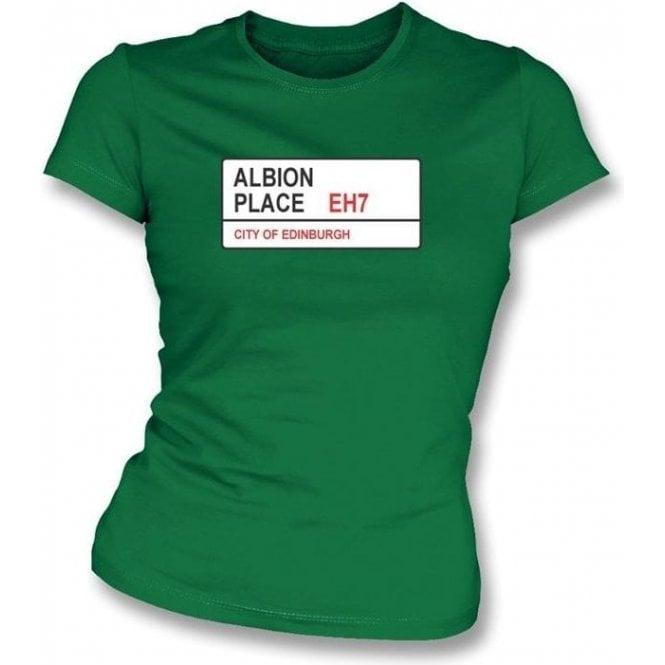 Albion Place EH7 Women's Slimfit T-Shirt (Hibernian)