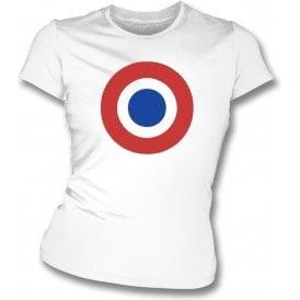Aldershot Classic Mod Target Womens Slim Fit T-Shirt
