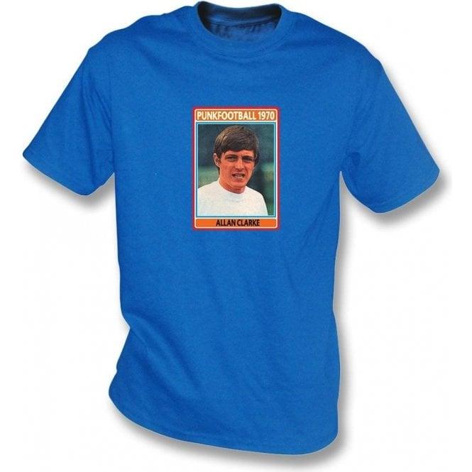 Allan Clarke 1970 (Leeds United) Royal Blue T-Shirt