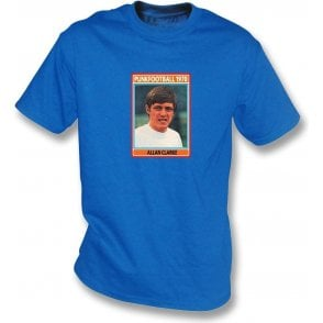 Allan Clarke 1970 (Leeds United) Royal Blue T-Shirt