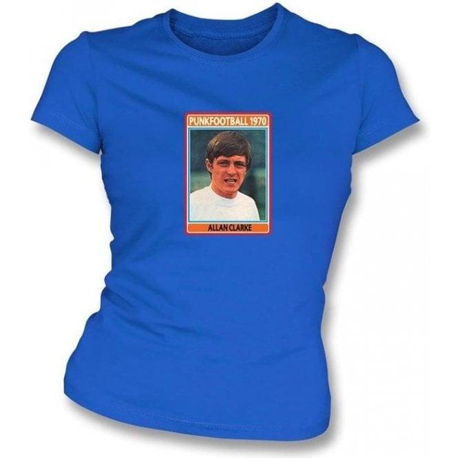 Allan Clarke 1970 (Leeds United) Royal Blue Women's Slimfit T-Shirt