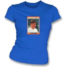 Allan Clarke 1970 (Leeds United) Royal Blue Women's Slimfit T-Shirt