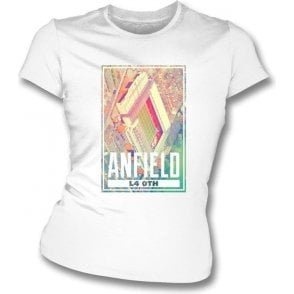 Anfield L4 0TH (Liverpool) Women's Slimfit T-Shirt