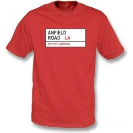 Anfield Road L4 Kids T-Shirt (Liverpool)