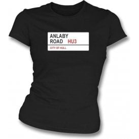 Anlaby Road HU3 Women's Slimfit T-Shirt (Hull City)