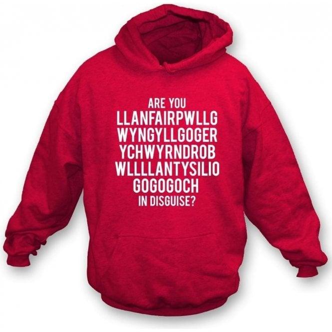 Are You Llanfairpwllgwyngyllgogerychwyrndrobwllllantysiliogogogoch In Disguise? (Wrexham) Hooded Sweatshirt