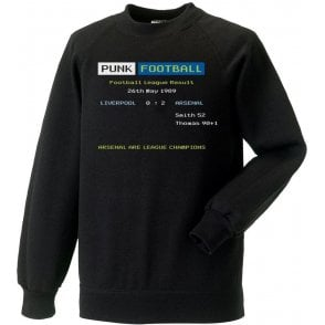 Arsenal 1989 Ceefax Kids Sweatshirt