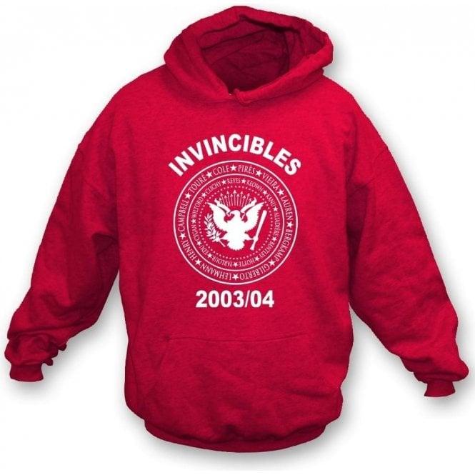 Arsenal Invincibles 2003/04 (Ramones Style) Hooded Sweatshirt