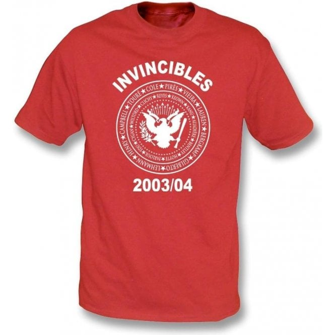 Arsenal Invincibles 2003/04 (Ramones Style) T-Shirt