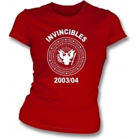 Arsenal Invincibles 2003/04 (Ramones Style) Womens Slim Fit T-Shirt