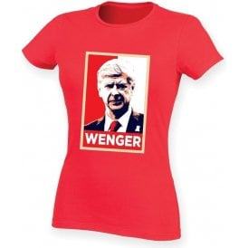 Arsene Wenger - Hope Poster (Arsenal) Womens Slim Fit T-Shirt