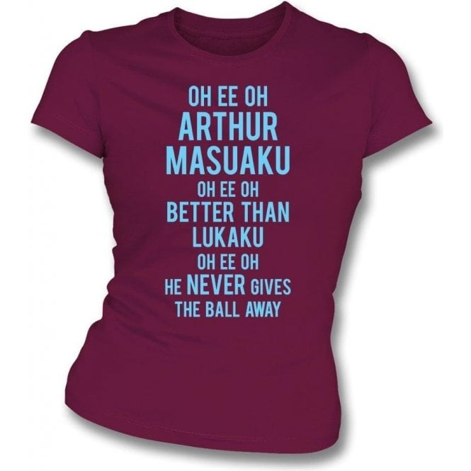 Arthur Masuaku (West Ham) Chant Womens Slim Fit T-Shirt