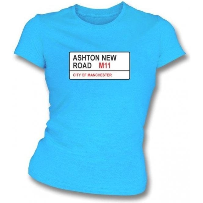 Ashton New Road M11 Women's Slimfit T-Shirt (Man City)
