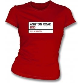 Ashton Road BS3 Women's Slimfit T-Shirt (Bristol City)