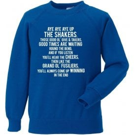 Aye Aye Up The Shakers (Bury) Sweatshirt