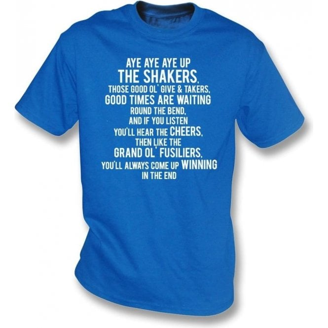 Aye Aye Up The Shakers (Bury) T-Shirt