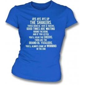 Aye Aye Up The Shakers (Bury) Womens Slim Fit T-Shirt