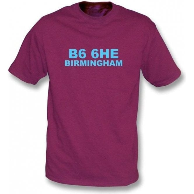 B6 6HE Birmingham T-Shirt (Aston Villa)