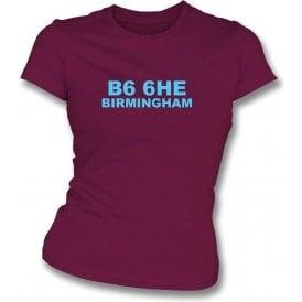 B6 6HE Birmingham Women's Slimfit T-Shirt (Aston Villa)