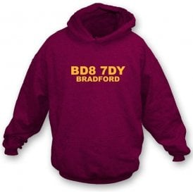 BD8 7DY Bradford Hooded Sweatshirt (Bradford City)