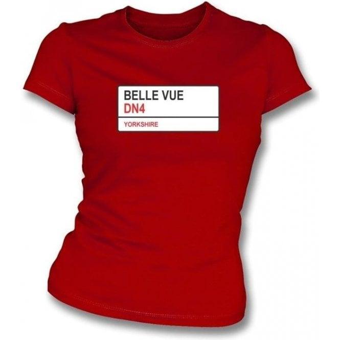Belle Vue DN4 (Doncaster Rovers) Womens Slimfit T-Shirt