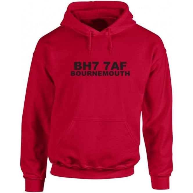 BH7 7AF Bournemouth Hooded Sweatshirt (Bournemouth)