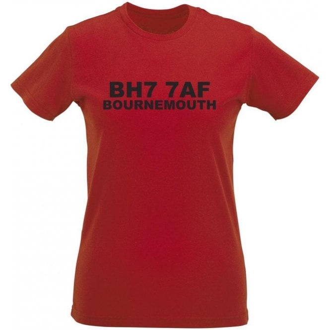 BH7 7AF Bournemouth Women's Slimfit T-Shirt (Bournemouth)