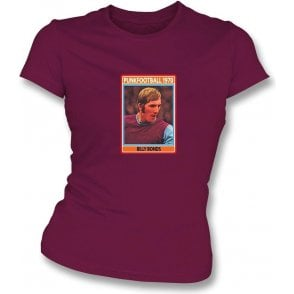 Billy Bonds 1970 (West Ham) Womens Slim Fit T-Shirt