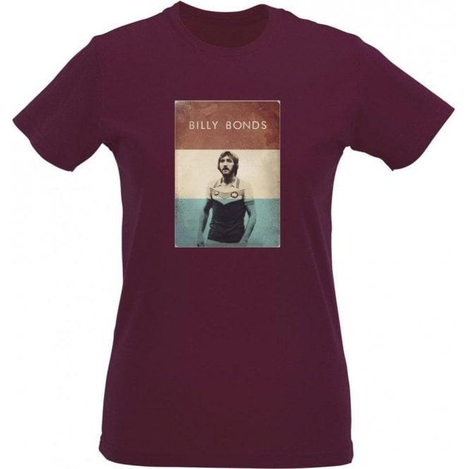 Billy Bonds (1976) Vintage Poster Womens Slim Fit T-Shirt