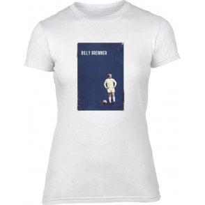 Billy Bremner (Leeds) Vintage Poster Womens Slim Fit T-Shirt