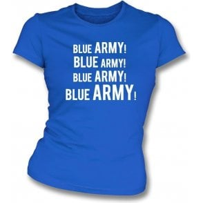 Blue Army! Womens Slim Fit T-Shirt (Ipswich Town)