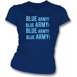 Blue Army! (Wycombe Wanderers) Womens Slim Fit T-Shirt