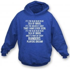 Blue Sea Of Ibrox (Rangers) Kids Hooded Sweatshirt