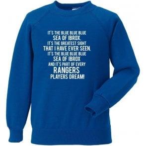 Blue Sea Of Ibrox (Rangers) Sweatshirt