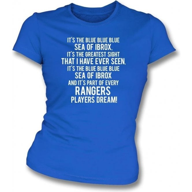 Blue Sea Of Ibrox (Rangers) Womens Slim Fit T-Shirt