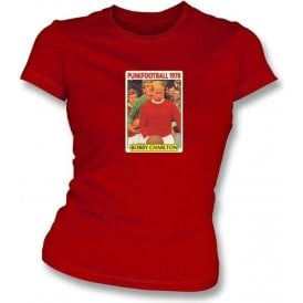 Bobby Charlton 1970 (Man United) Red Women's Slimfit T-Shirt