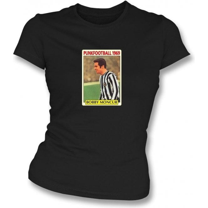 Bobby Moncur 1969 (Newcastle United) Black Women's Slimfit T-Shirt
