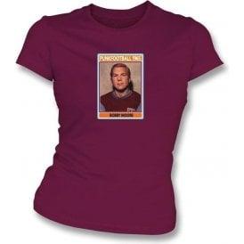 Bobby Moore 1965 (West Ham) Maroon Women's Slimfit T-Shirt