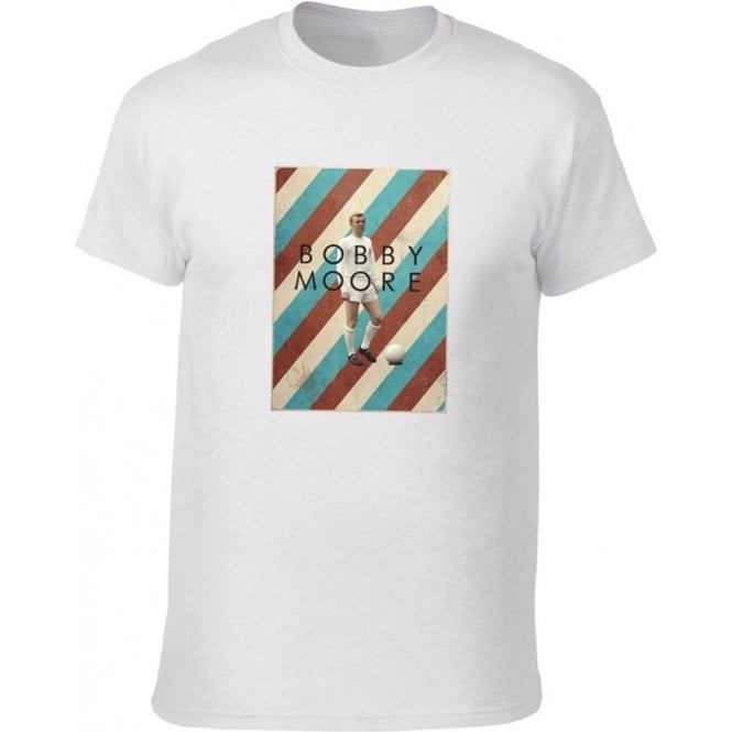 Bobby Moore (West Ham) 60's Vintage Poster T-Shirt