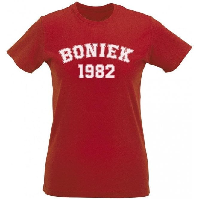 Boniek 1982 (Poland) Womens Slim Fit T-Shirt