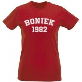Boniek 1982 (Poland) Womens Slim Fit T-Shirt